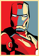 Man Framed Prints - Iron Man Framed Print by Caio Caldas
