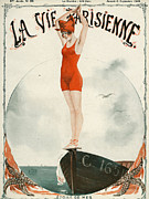 Swimsuits  Swimming Costumes Prints - La Vie Parisienne  1919 1910s France Print by The Advertising Archives