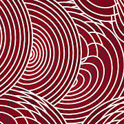 Line Drawings Art - Red Abstract by Frank Tschakert