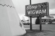 Gravel Road Framed Prints - Route 66 - Wigwam Motel Framed Print by Frank Romeo