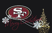 Christmas Greeting Photo Framed Prints - San Francisco 49ers Framed Print by Joe Hamilton