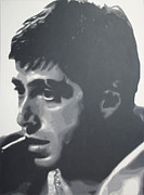 The Godfather Painting Framed Prints - Scarface Framed Print by Luis Ludzska