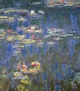 Pads Painting Metal Prints - Water Lilies Metal Print by Claude Monet