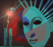Twin Towers Trade Center Digital Art Metal Prints - 132 - Nine eleven in my mind Metal Print by Irmgard Schoendorf Welch