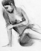 Nudes Drawings - RCNpaintings.com by Chris N Rohrbach