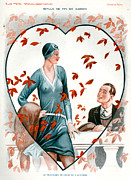 Valentines Day Drawings Framed Prints - 1920s France La Vie Parisienne Magazine Framed Print by The Advertising Archives