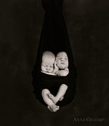 Black And White Photography Photo Metal Prints - Untitled Metal Print by Anne Geddes