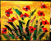 Washington Monument Paintings - Flowers by Mark Kazav