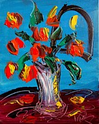Flower Still Life Prints Prints - Flowers Print by Mark Kazav