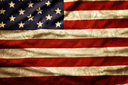 American Flag Metal Prints - American flag Metal Print by Les Cunliffe
