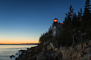 Maine Lighthouses Framed Prints - Bass Harbor Lighthouse Framed Print by John Greim