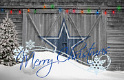 Christmas Greeting Photo Framed Prints - Dallas Cowboys Framed Print by Joe Hamilton