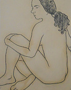 Shipping Drawings - Female Nude by Margarita Felis