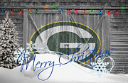 Snow Greeting Cards Prints - Green Bay Packers Print by Joe Hamilton