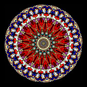 Faith Posters - Kaleidoscope Stained Glass Window Series Poster by Amy Cicconi