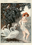 Poster  Metal Prints - La Vie Parisienne  1923 1920s France Metal Print by The Advertising Archives