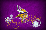 Christmas Greeting Photo Framed Prints - Minnesota Vikings Framed Print by Joe Hamilton