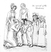 Family Drawings - Scene from Pride and Prejudice by Jane Austen by Hugh Thomson