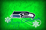 Christmas Greeting Photo Framed Prints - Seattle Seahawks Framed Print by Joe Hamilton