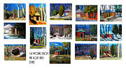 Outbuildings Digital Art Prints - 14 WORKS from the Golf Shed Series Print by Charlie Spear