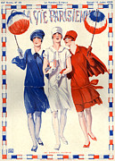 Dresses Drawings - 1920s France La Vie Parisienne Magazine by The Advertising Archives
