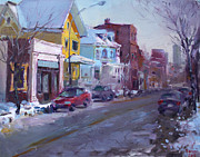 149 Elmwood Ave Savoy Print by Ylli Haruni