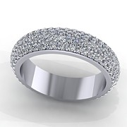 Platinum Jewelry - 14K White Gold Diamond Eterntiy Band by Eternity Collection