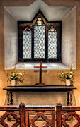 Ledge Digital Art Posters - 14th Century Chapel Poster by Adrian Evans