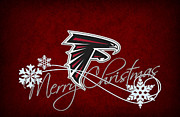 Christmas Greeting Photo Framed Prints - Atlanta Falcons Framed Print by Joe Hamilton