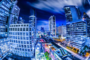 Keywords Prints - Bangkok city night view Print by Anek Suwannaphoom