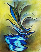 Art Canvas Prints - Blue Bird Print by Melinda Firestone-White
