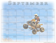 Quad Posters - Calendar for 9 2013 Poster by Geri Scull