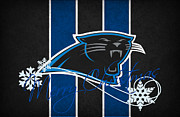 Offense Prints - Carolina Panthers Print by Joe Hamilton
