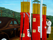 Service Station Paintings - 15 Cents a Gallon by Anthony Dunphy