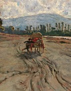 Horse And Cart Art - Italy, Tuscany, Florence, Palazzo by Everett