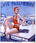 Swimsuits  Swimming Costumes Prints - La Vie Parisienne 1936 1930s France Print by The Advertising Archives