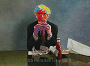 Hamburger Paintings - 15 Minutes Later by Allan OMarra