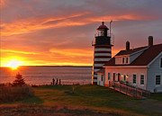 Maine Lighthouses Photo Posters - West Quoddy Head Lighthouse Poster by Jack Schultz