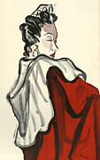 1930Õs Drawings Framed Prints - WomenÕs Fashion 1930s 1939 1930s Uk Framed Print by The Advertising Archives