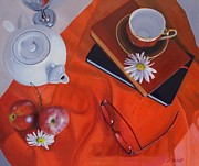 Teapot Paintings - 1530 Time for Tea by Diana Marshall