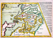 Cartography Paintings - 1541 WALDSEEMULLER Map of Scandinavia Norbegia Gottia Geographicus NorbegiaGottia waldseemuller 1541 by MotionAge Art and Design - Ahmet Asar