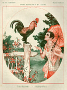 Chicken Drawings - 1920s France La Vie Parisienne Magazine by The Advertising Archives