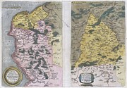1579 Framed Prints - 1579 Ortelius Map of Calais and Vermandois France and Vicinity Framed Print by Paul Fearn