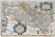 Map Of The Hand Posters - 1579 Ortelius Map of Portugal  Poster by Paul Fearn