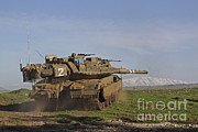 Featured Acrylic Prints - An Israel Defense Force Merkava Mark Iv Acrylic Print by Ofer Zidon