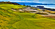 Us Open Photo Posters - #16 at Chambers Bay Golf Course - Location of the 2015 U.S. Open Championship Poster by David Patterson