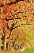 Autumn Painting Print by Lars Tuchel