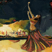 Belly Dancer Print by Corporate Art Task Force