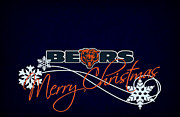 Christmas Greeting Photo Framed Prints - Chicago Bears Framed Print by Joe Hamilton