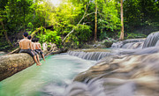 Huahin Photos - Erawan Waterfall by Anek Suwannaphoom